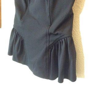 bebe Tops - bebe peplum black tube top bodice corset w/stretch